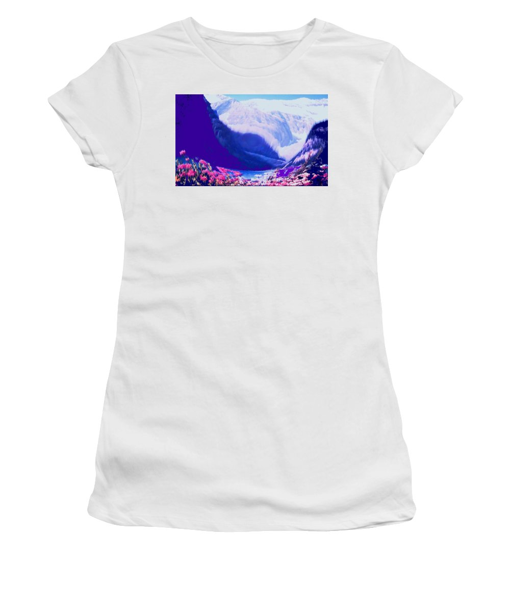 Lake Louise Women's T-Shirt (Athletic Fit) featuring the photograph Lake Louise by Ian MacDonald