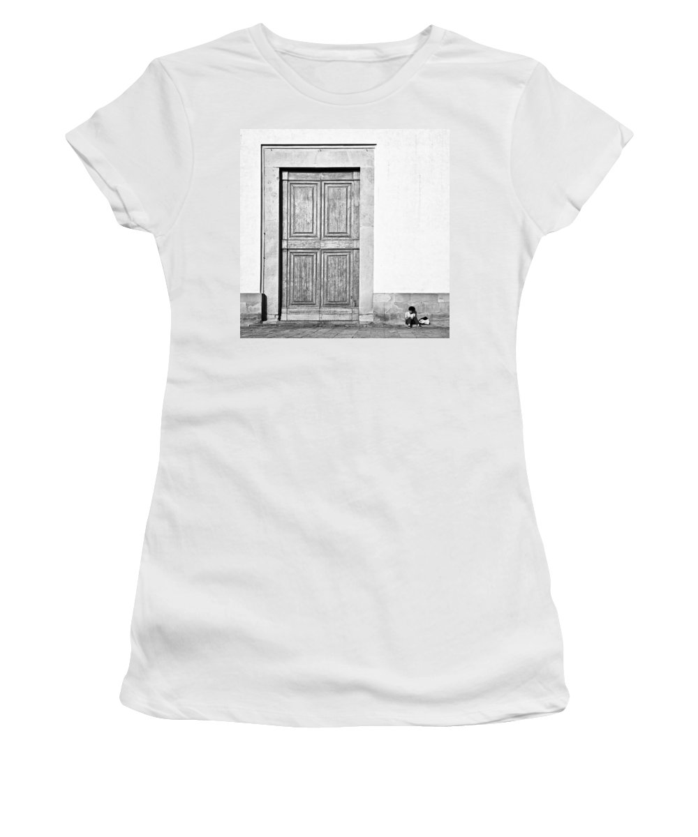 Door Women's T-Shirt featuring the photograph Land Of The Giants by Dave Bowman