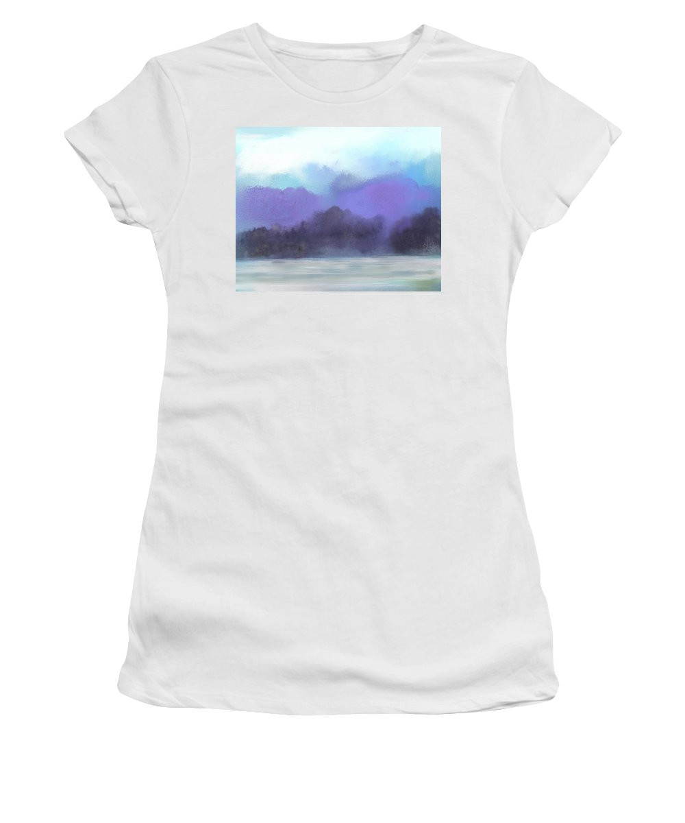 Digital Painting Women's T-Shirt (Athletic Fit) featuring the digital art Landscape 02-19-10 by David Lane