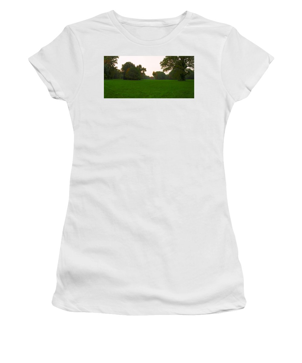 Landscape Park Women's T-Shirt featuring the photograph Late Afternoon In The Park by Sun Travels