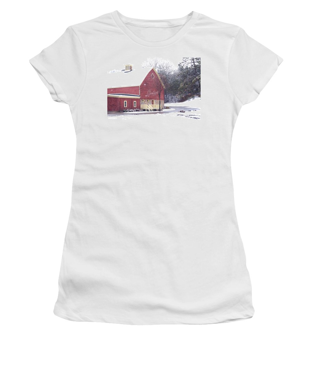 Barn Women's T-Shirt (Athletic Fit) featuring the photograph Leinie by Tim Nyberg