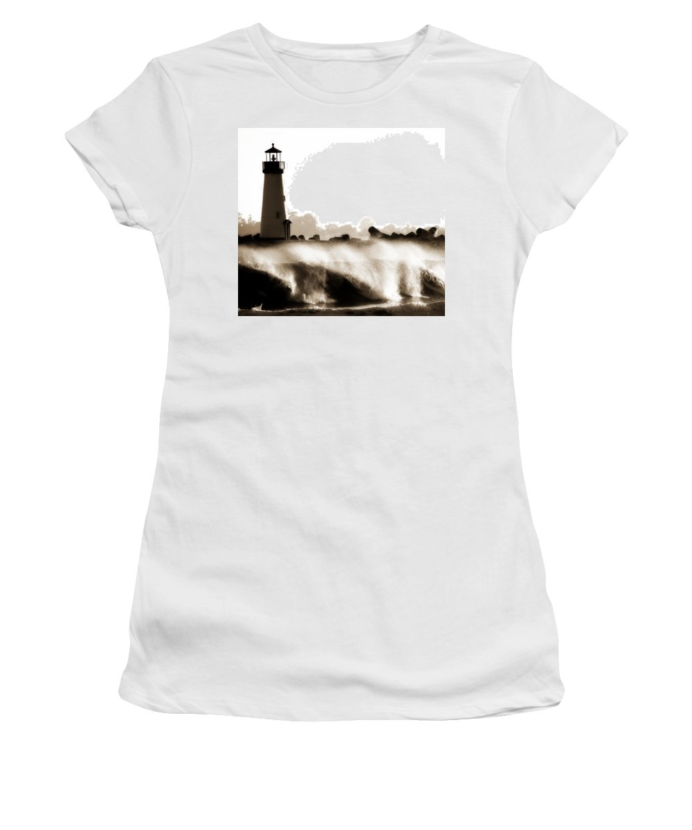Lighthouse Women's T-Shirt (Athletic Fit) featuring the photograph Lighthouse 3 Dreamy by Marilyn Hunt