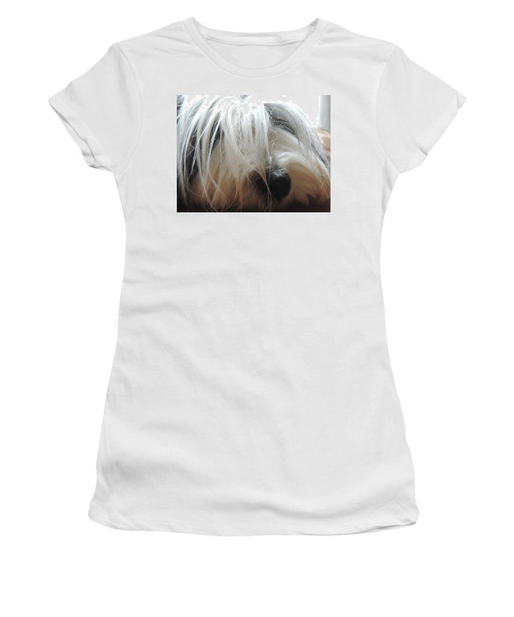 Lisbeth Women's T-Shirt (Athletic Fit) featuring the pyrography Lisbeth_001 by Rolf Stoeckle