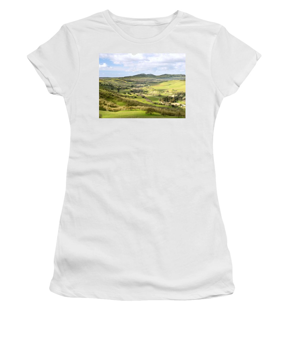 Landscape Women's T-Shirt (Athletic Fit) featuring the photograph Livermore Valley by Karen W Meyer