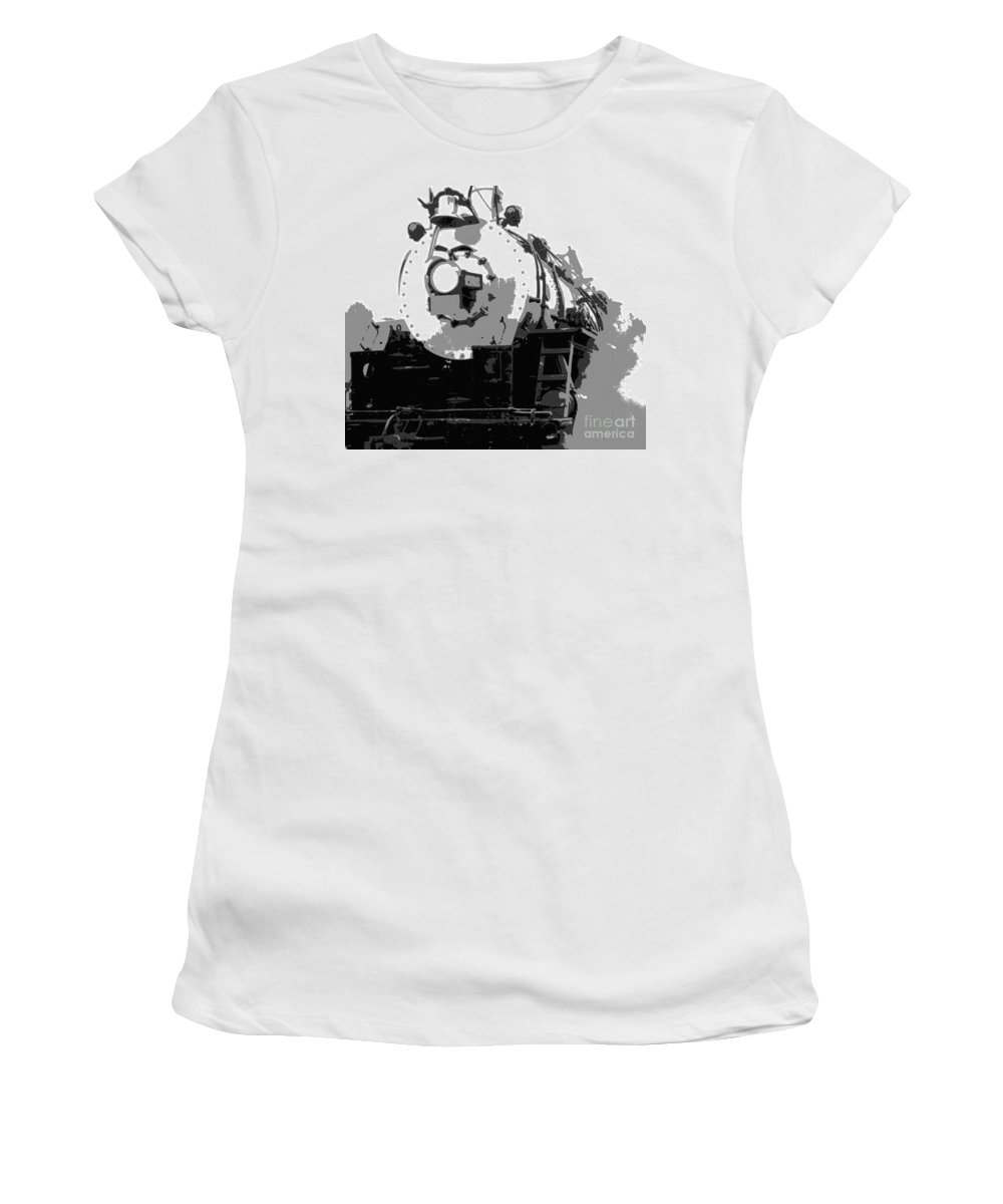 Locomotive Women's T-Shirt (Athletic Fit) featuring the mixed media Locomotion by Richard Rizzo