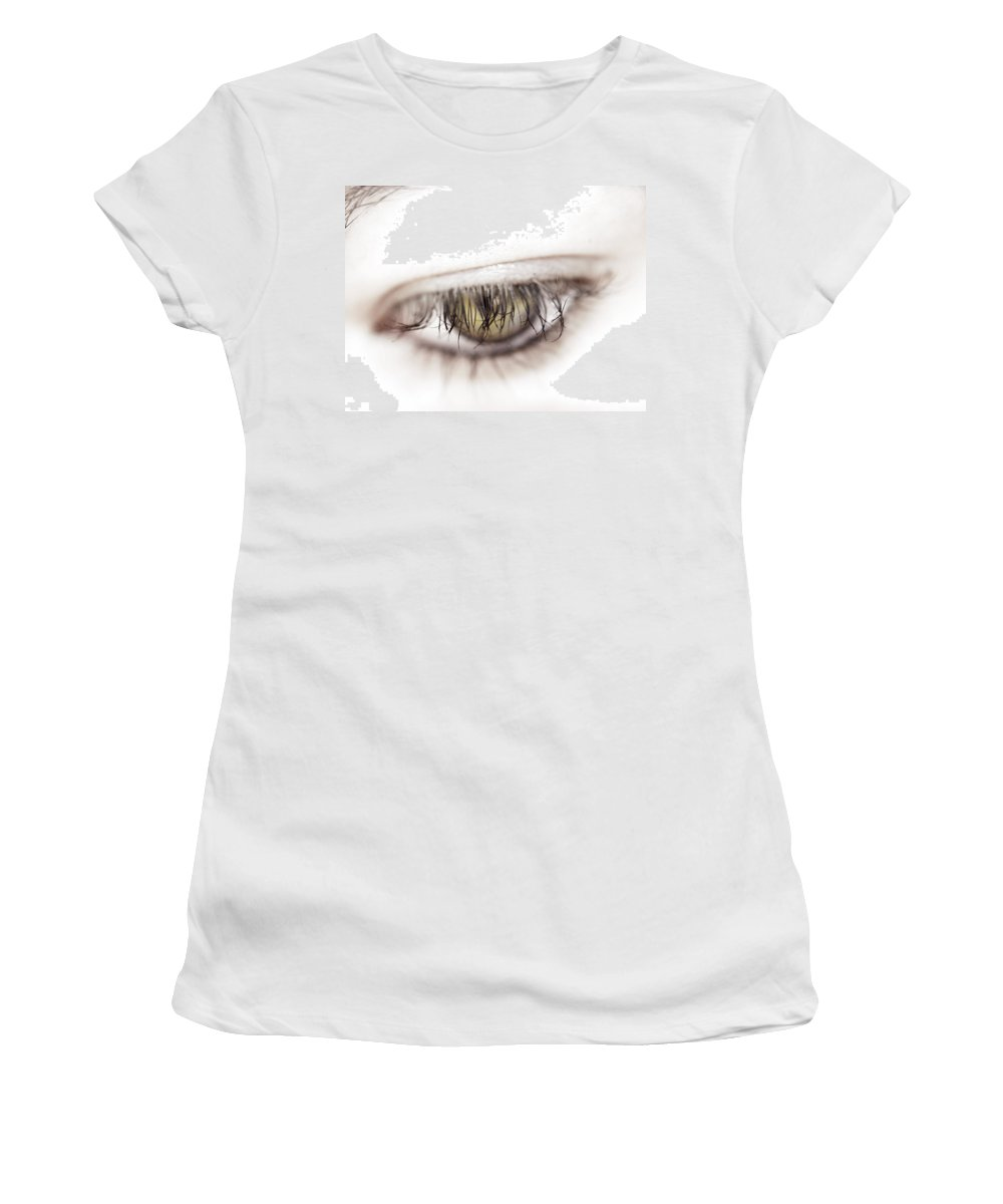 Eye Women's T-Shirt (Athletic Fit) featuring the photograph Look Away by Kelly Jade King