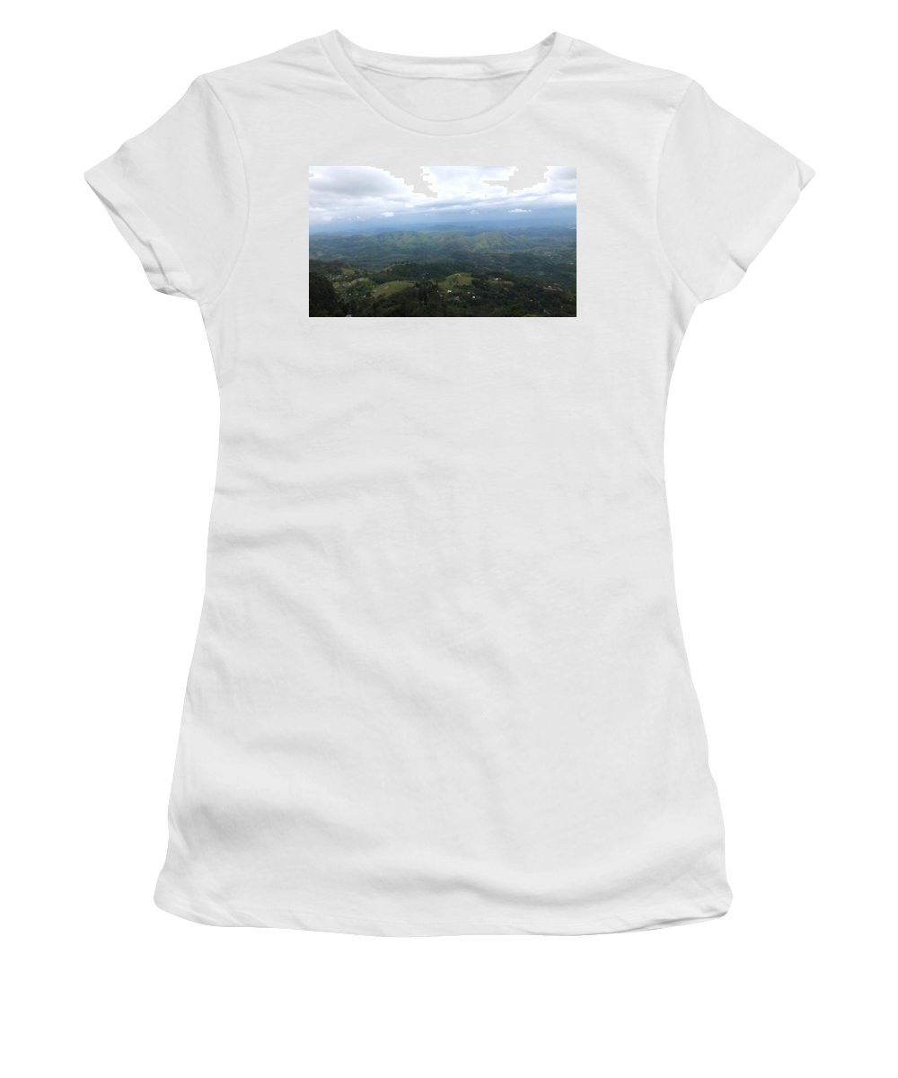 Nature Women's T-Shirt (Athletic Fit) featuring the photograph Lookouts by Mohan