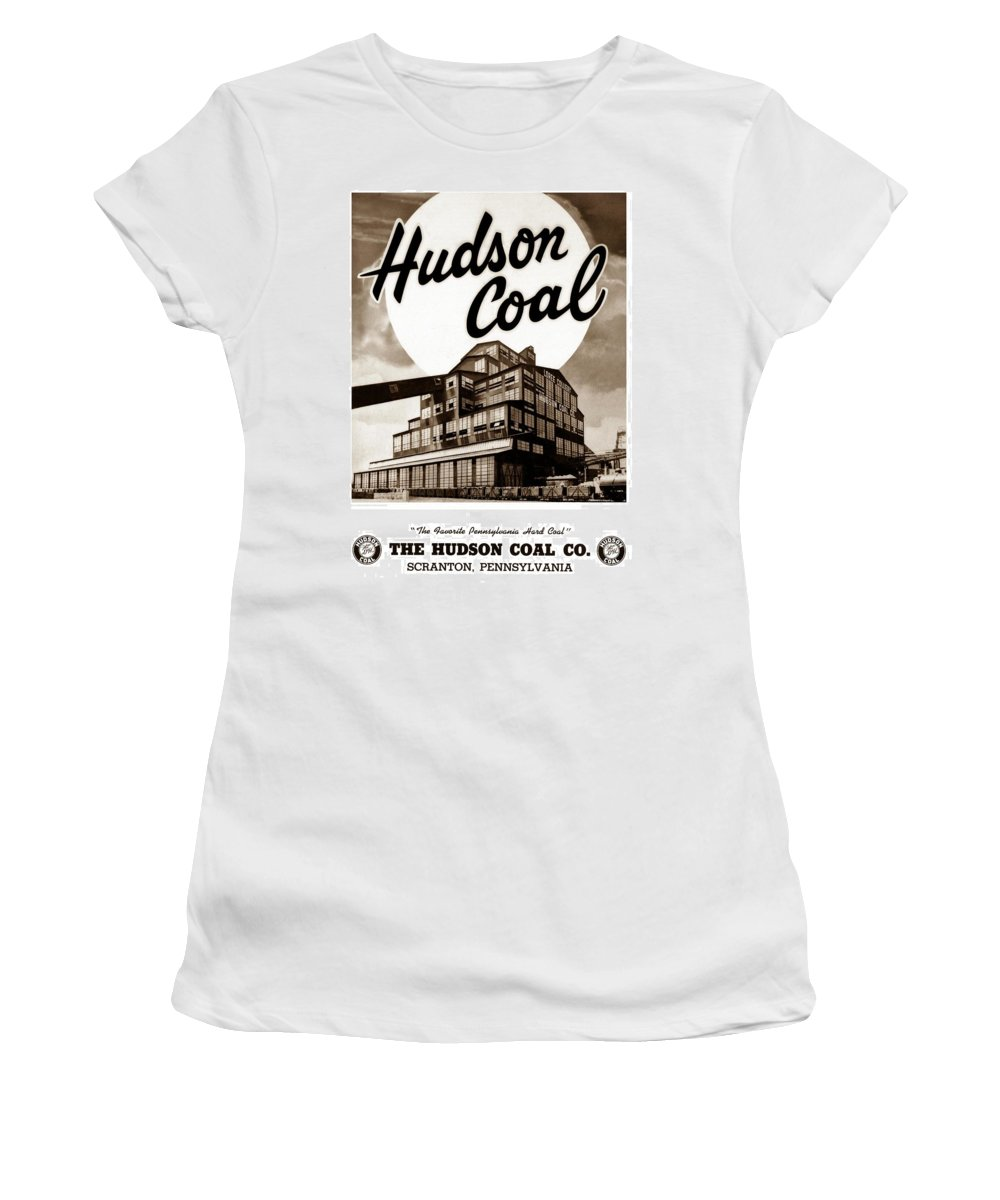 Loree Colliery Women's T-Shirt (Athletic Fit) featuring the photograph Loree Colliery Larksville Pa. Hudson Coal Co by Arthur Miller