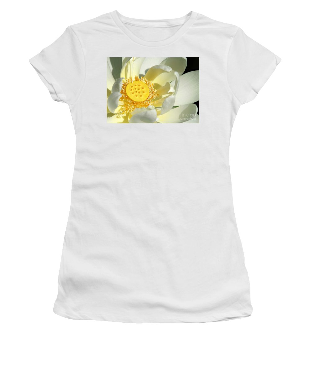 Lotus Women's T-Shirt (Athletic Fit) featuring the photograph Lotus Up Close by Sabrina L Ryan