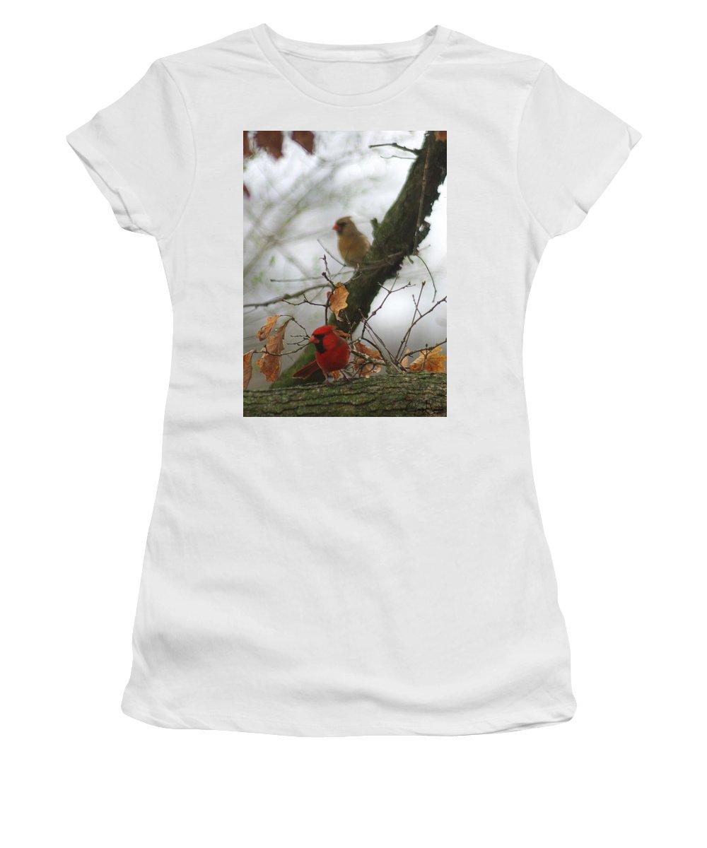 Jenny Gandert Women's T-Shirt featuring the photograph Love At First Sight by Jenny Gandert