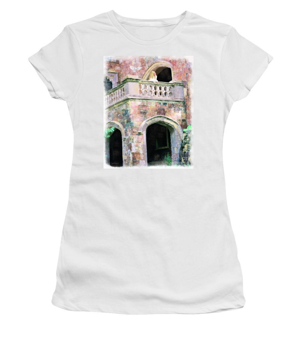 Bride Women's T-Shirt (Athletic Fit) featuring the painting Lovesick Bride by Constance Woods