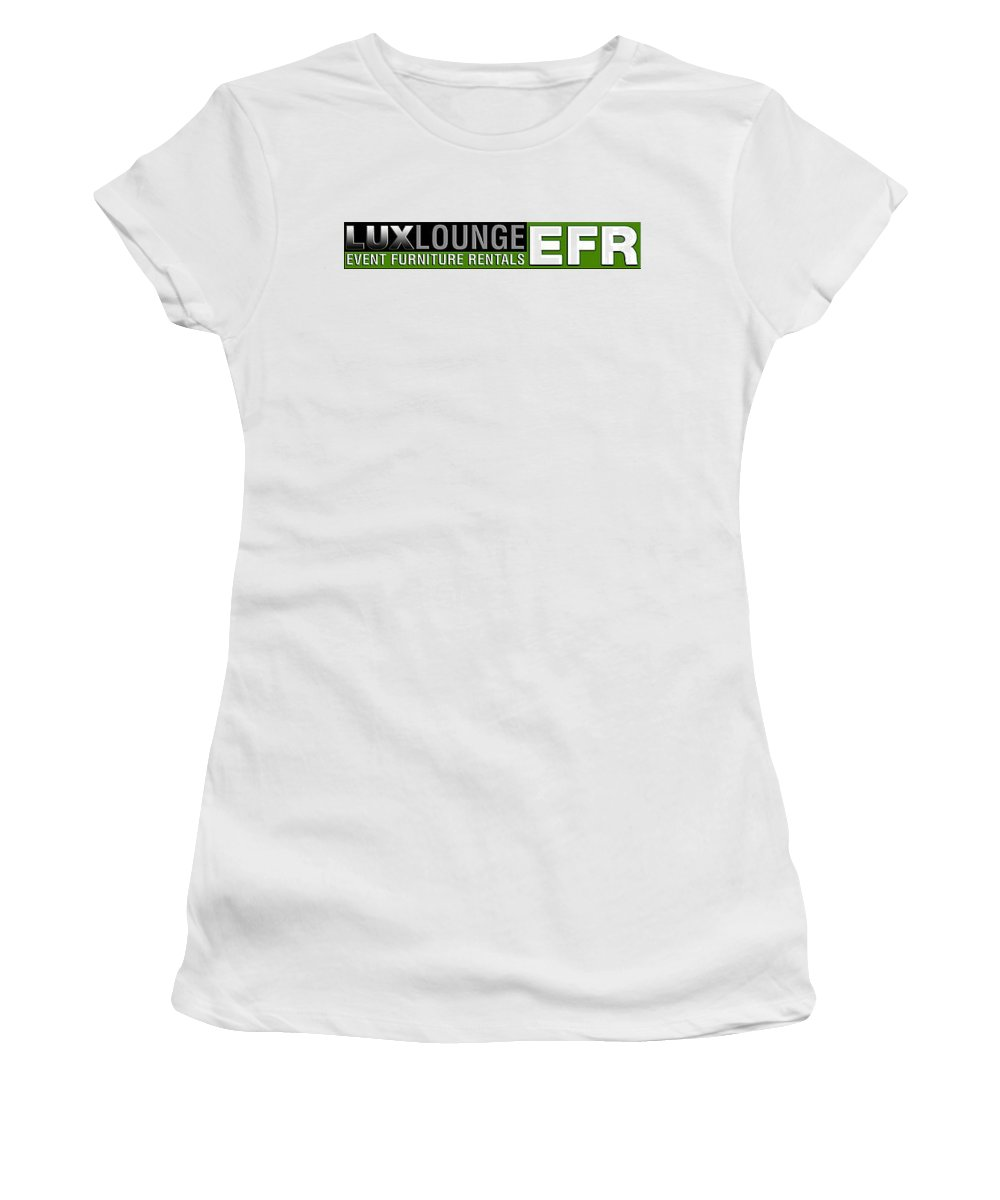 Event Furniture Rental Women's T-Shirt (Athletic Fit) featuring the mixed media Lux Lounge Efr by Lux Loungeefr