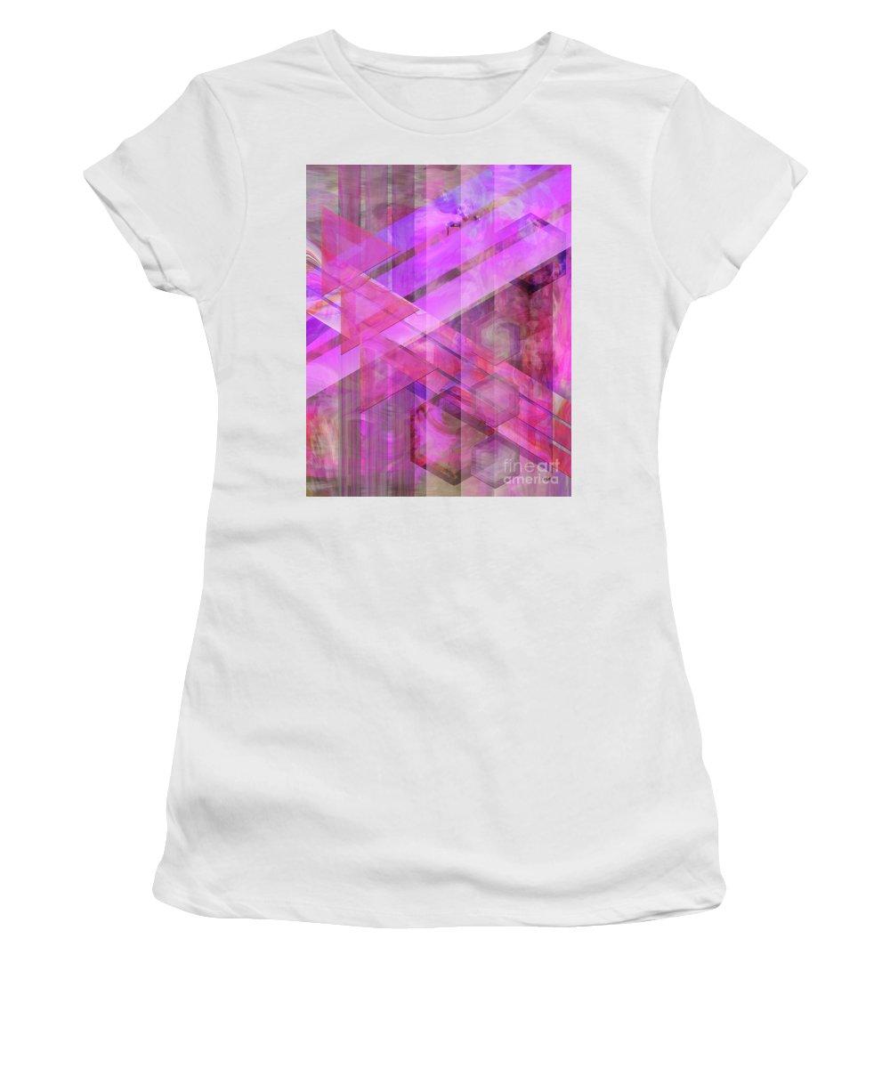Magenta Haze Women's T-Shirt (Athletic Fit) featuring the digital art Magenta Haze by John Beck