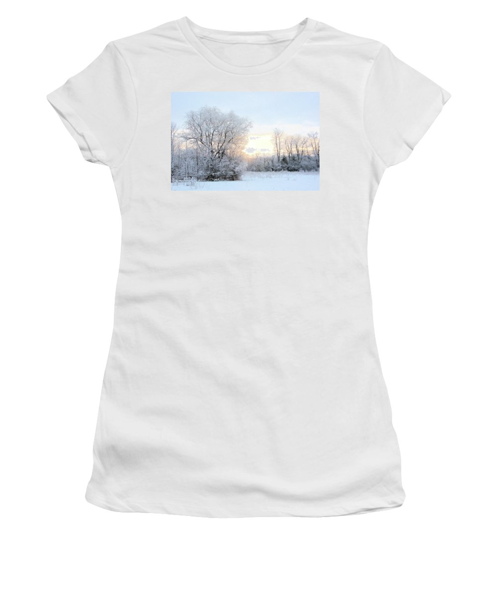 March Women's T-Shirt (Athletic Fit) featuring the photograph Magical March Morning by Valerie Kirkwood