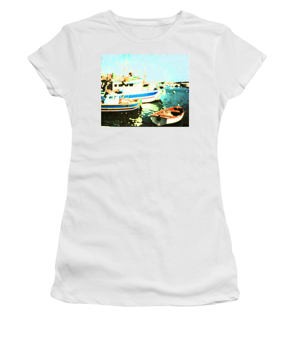 Malta Women's T-Shirt (Athletic Fit) featuring the photograph Maltese Harbor by Ian MacDonald