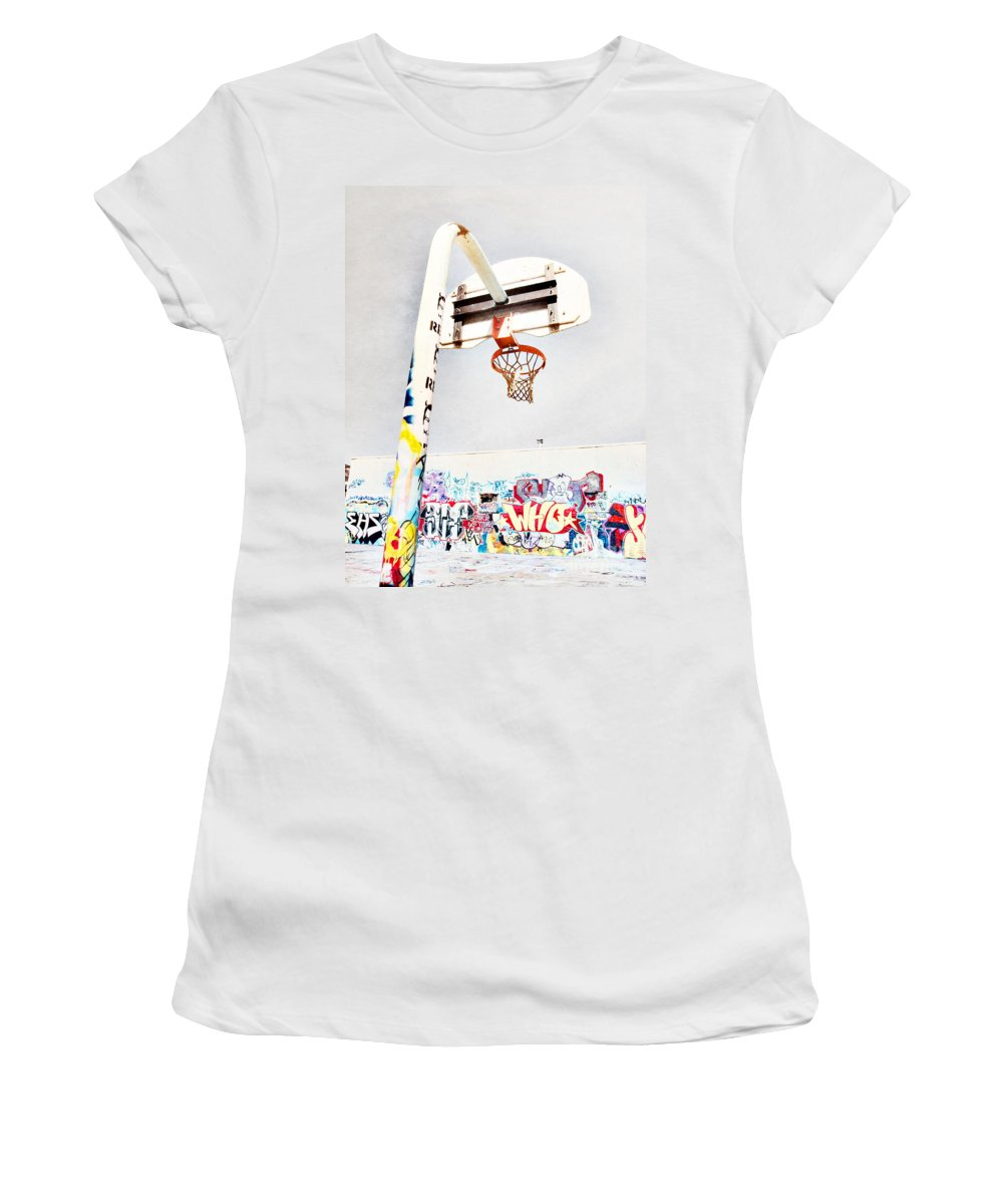 Basketball Women's T-Shirt (Athletic Fit) featuring the photograph March 23 2010 by Tara Turner