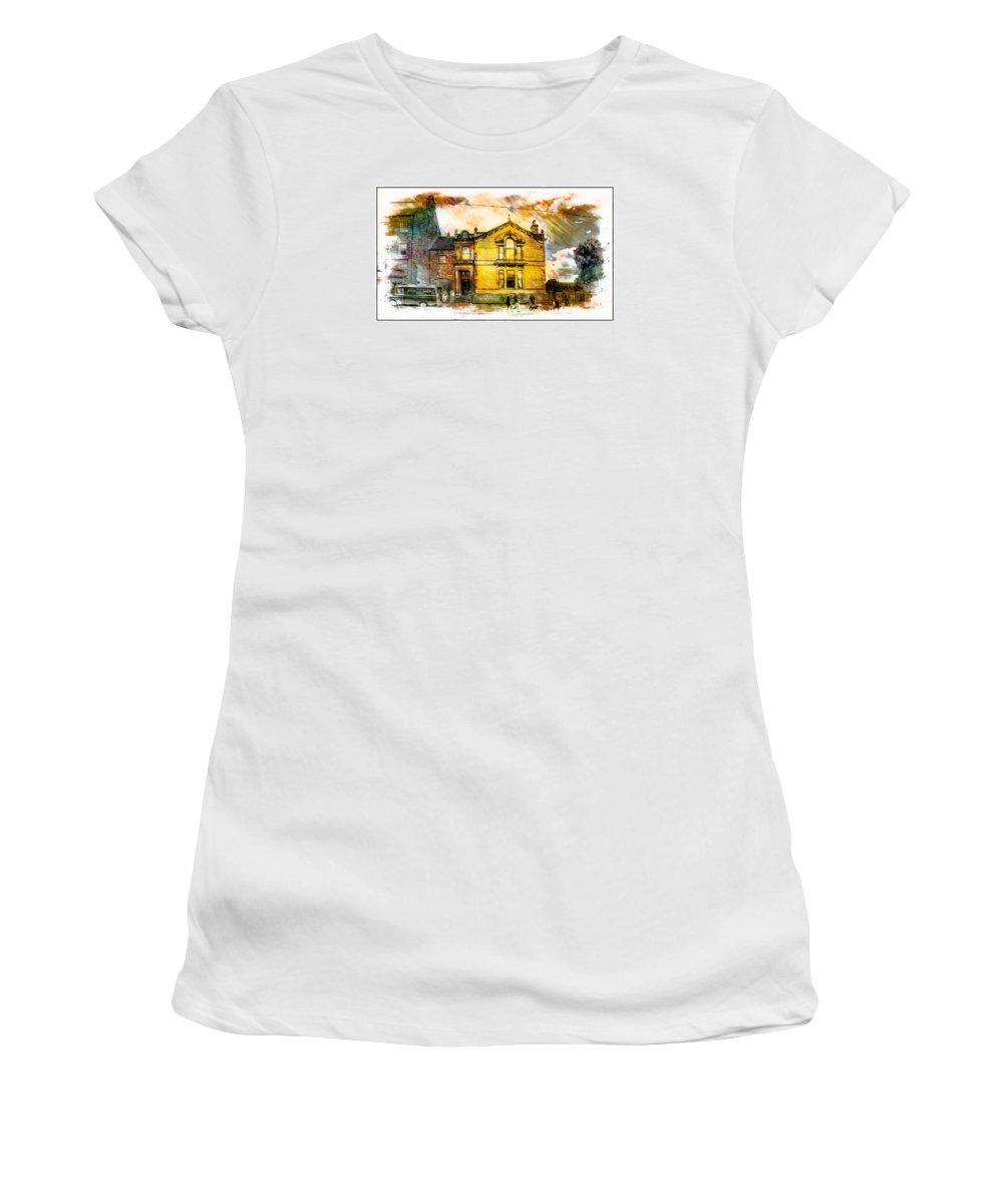 Beamish Women's T-Shirt featuring the digital art Masonic Lodge 2 by John Lynch