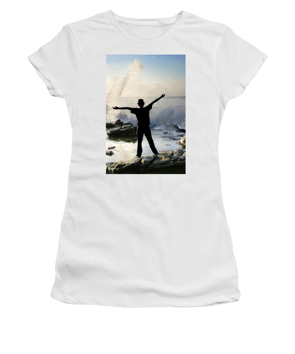 Ocean Women's T-Shirt (Athletic Fit) featuring the photograph Master Of The Ocean by Anthony Jones