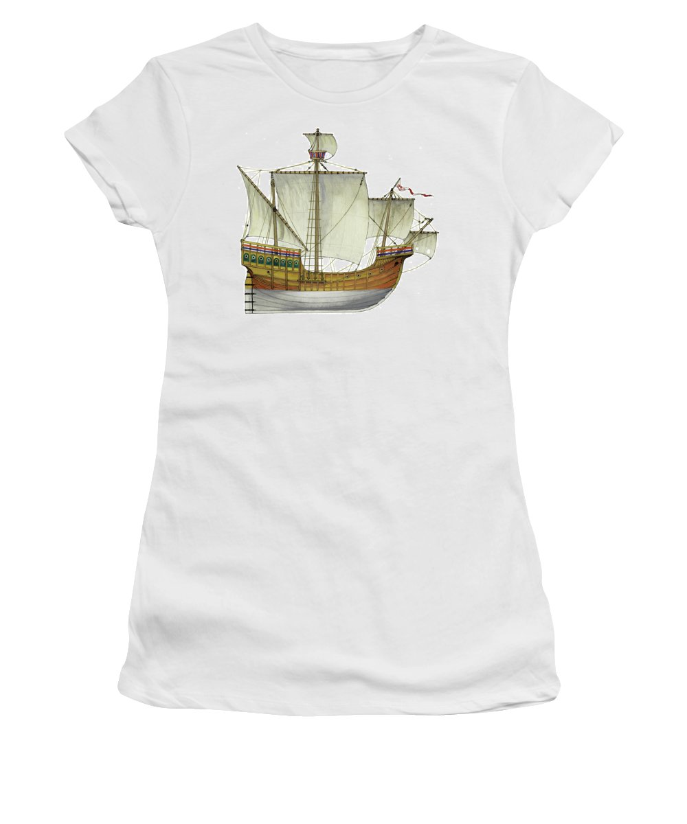 Caravel Women's T-Shirt featuring the painting Matthew by The Collectioner