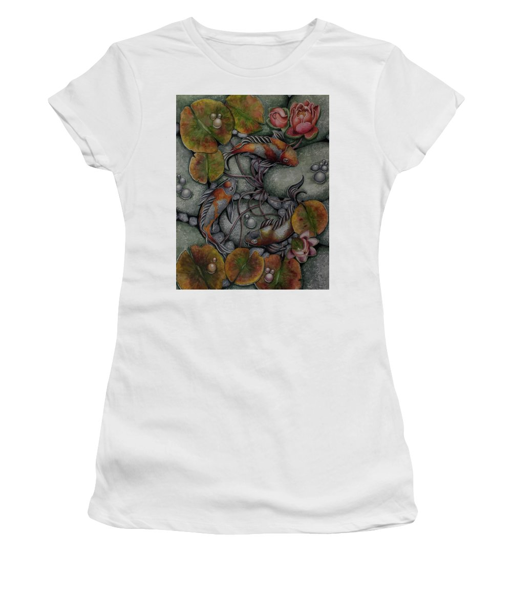 Kois Women's T-Shirt featuring the painting Merry Go Round by Olive Pascual