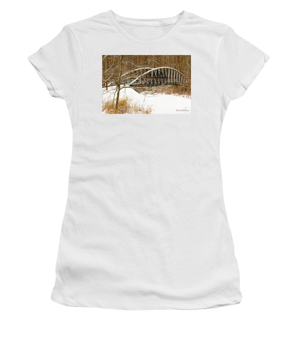 Winter Landscape Women's T-Shirt featuring the photograph Metro Park II by Dennis R Bean