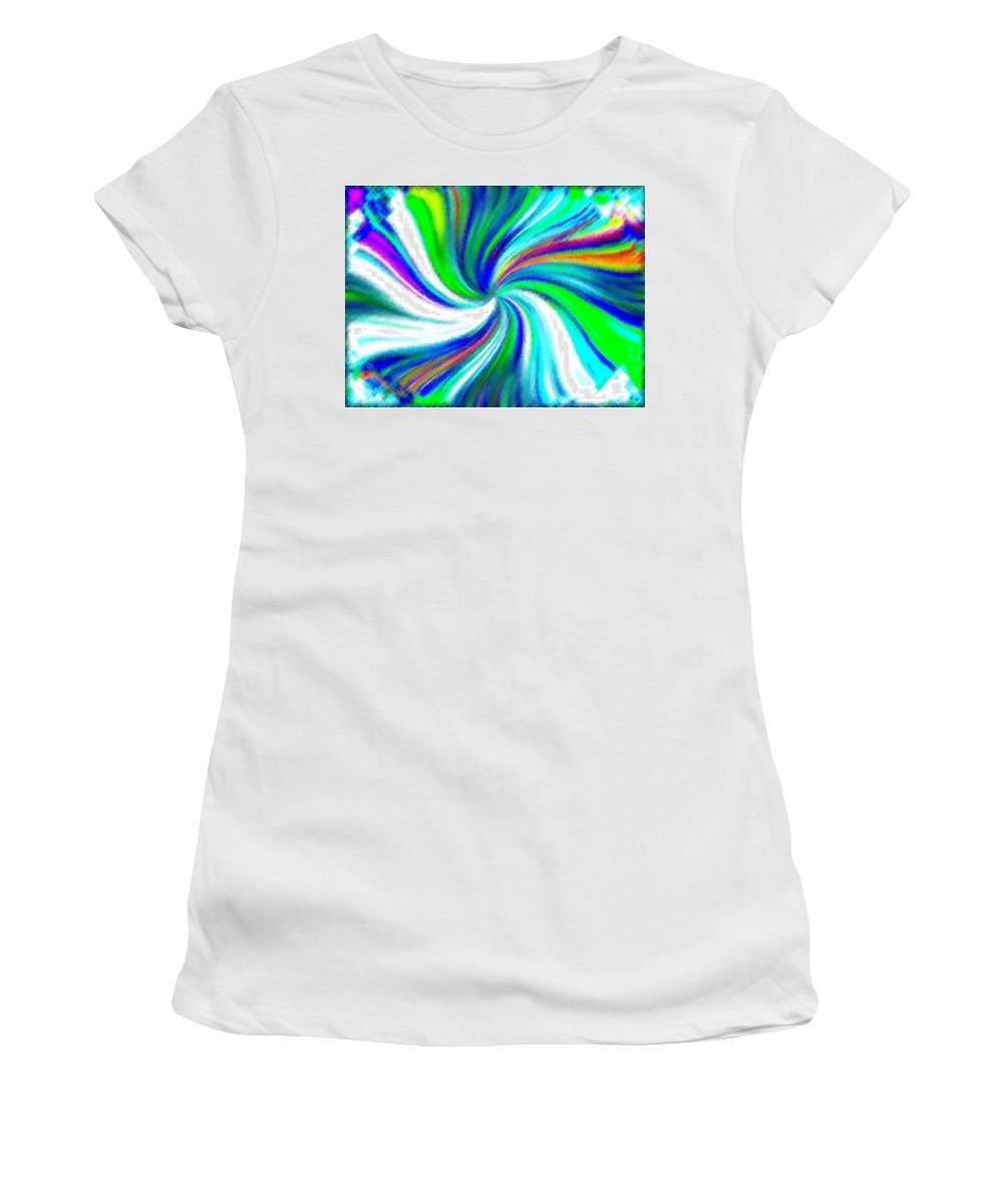 Micro Linear Women's T-Shirt (Athletic Fit) featuring the digital art Micro Linear 5 by Will Borden