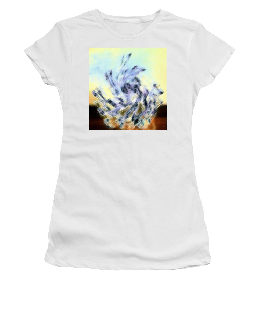 Micro Linear Women's T-Shirt featuring the digital art Micro Linear 8 by Will Borden