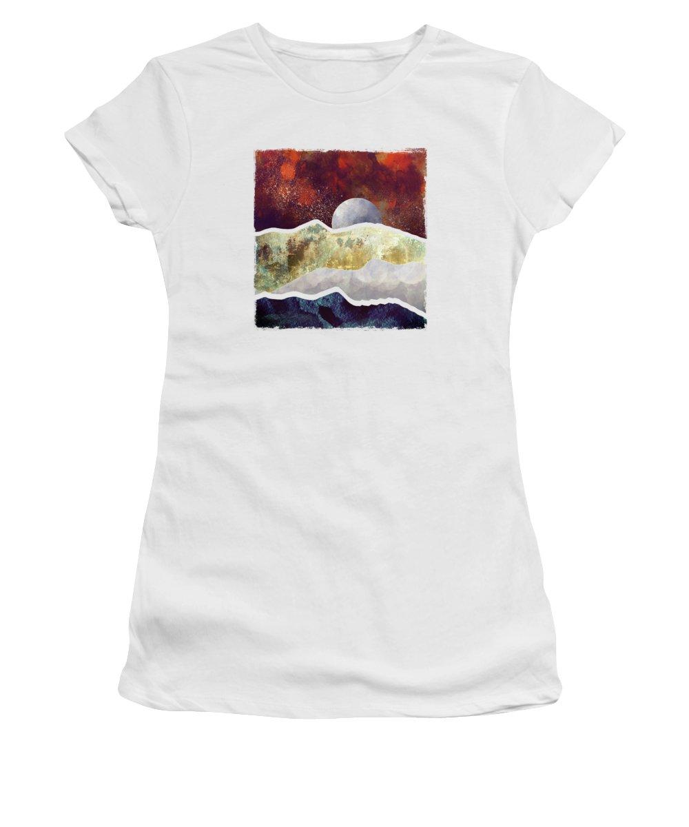 Milky Way Digital Art Women's T-Shirts