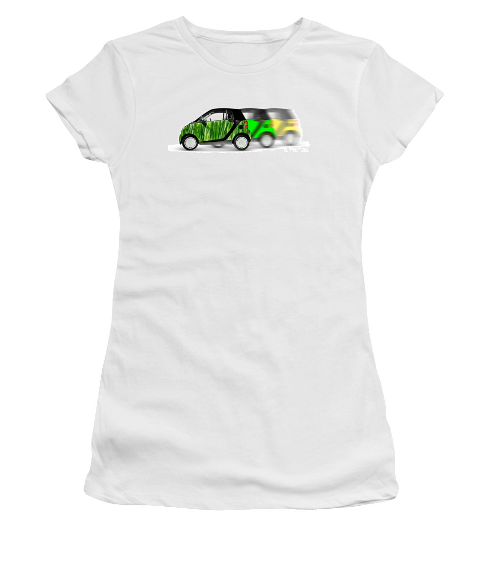 Smart Women's T-Shirt (Athletic Fit) featuring the photograph Mini Cars by Oleksiy Maksymenko