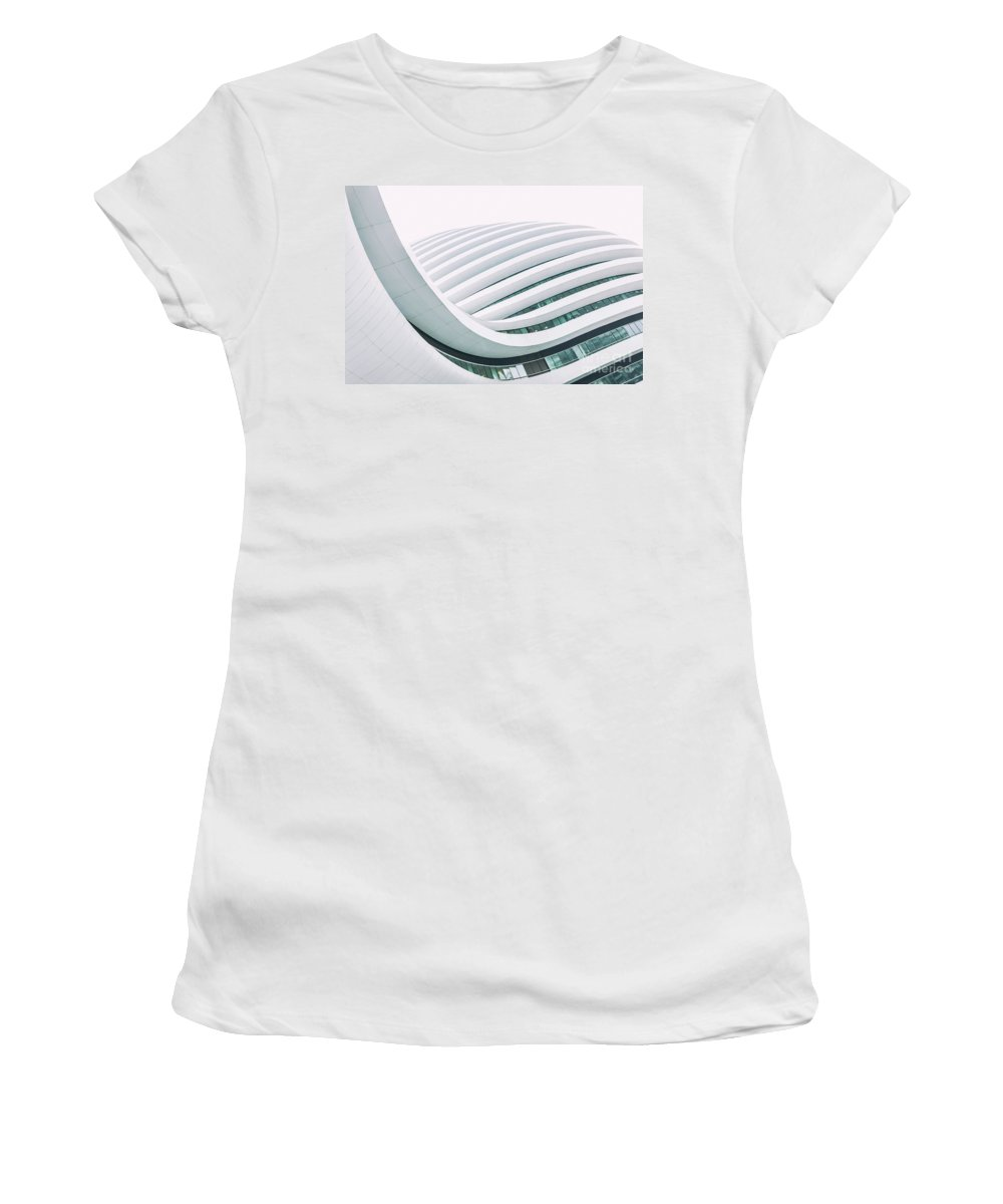 Futuristic Women's T-Shirt (Athletic Fit) featuring the photograph Modern Architecture by Marcus Lindstrom