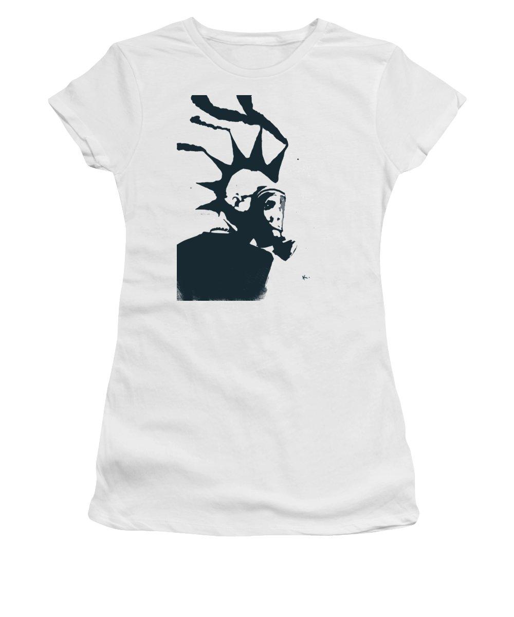 Street Art Women's T-Shirt featuring the digital art Moking Myself by Keshava Shukla