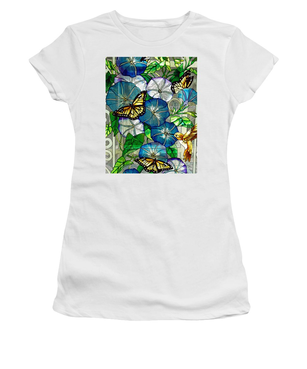 Berry Women's T-Shirt (Athletic Fit) featuring the photograph Morning Glory by Diane E Berry