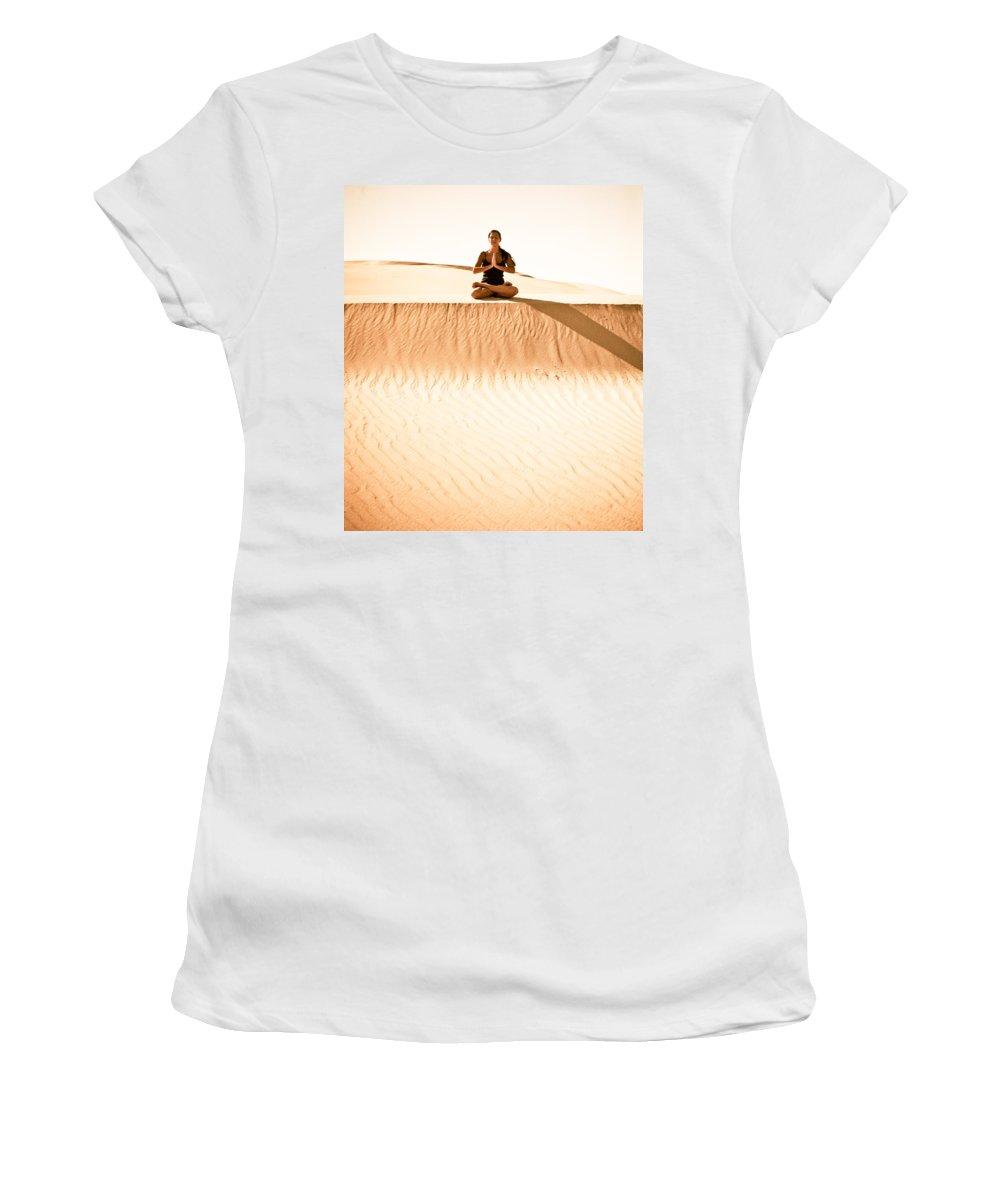 Yoga Women's T-Shirt featuring the photograph Morning Meditation by Scott Sawyer