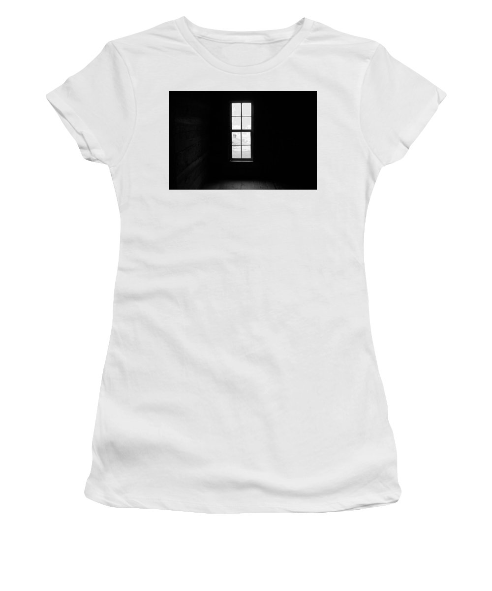 Dark Women's T-Shirt (Athletic Fit) featuring the photograph Morning Walk by Theron Clore