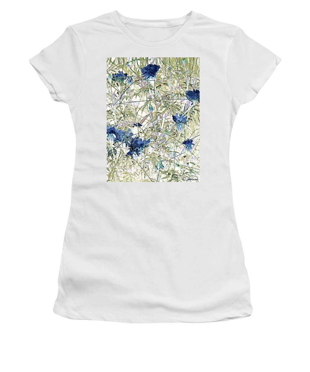 Asian Women's T-Shirt (Athletic Fit) featuring the painting Motif Japonica No. 10 by RC DeWinter