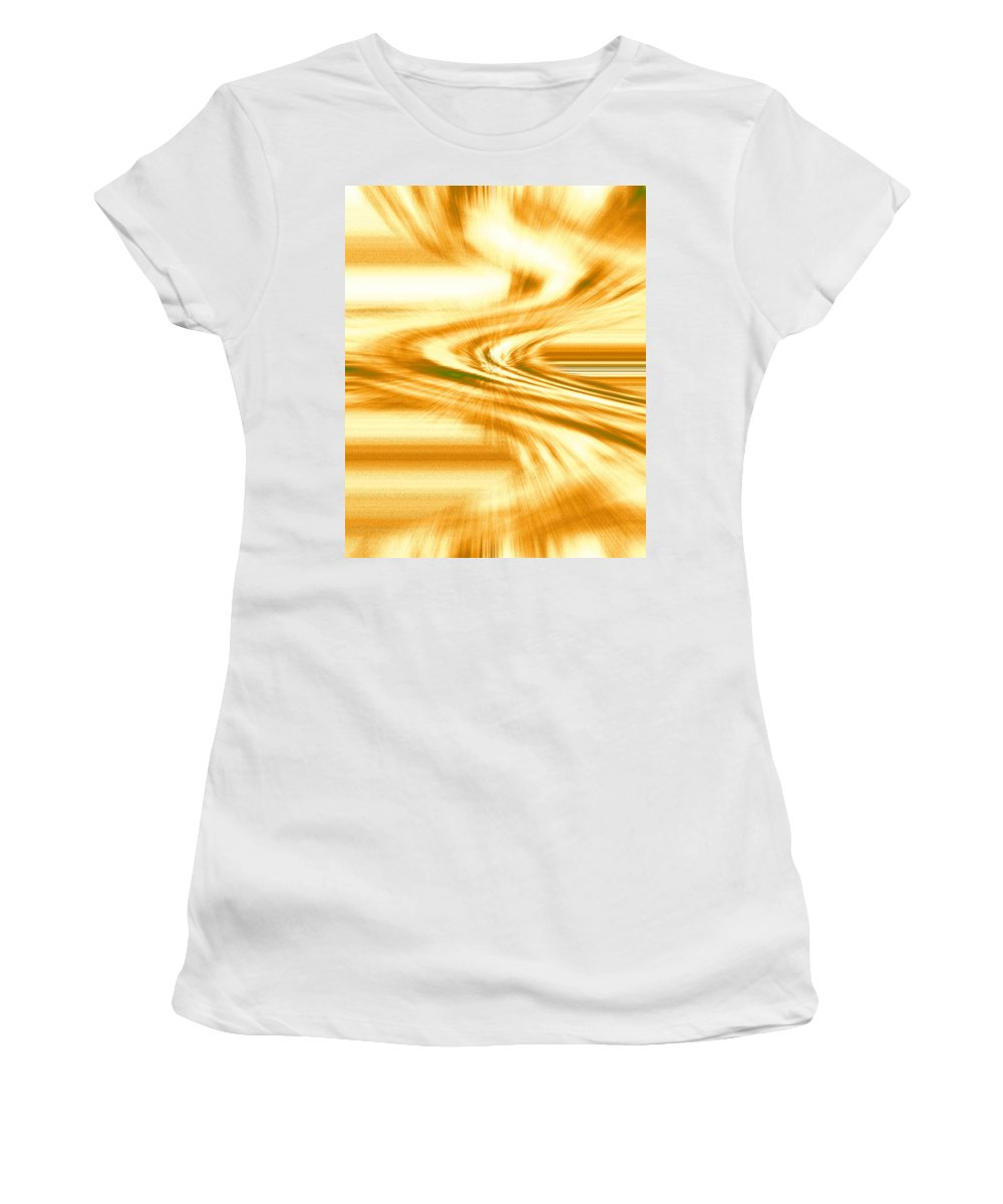 Moveonart! Digital Gallery Women's T-Shirt featuring the digital art Moveonart They Say The Streets Are Paved With Gold by Jacob Kanduch