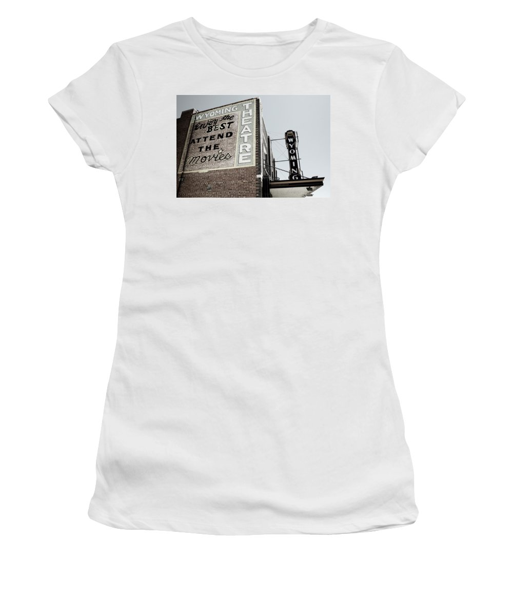 Americana Women's T-Shirt featuring the photograph Movie Sign 2 by Marilyn Hunt