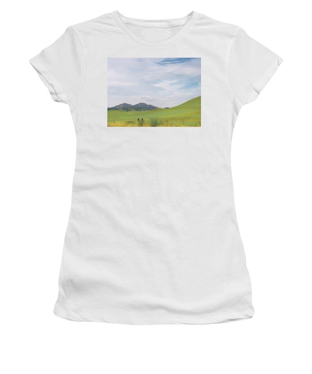 Landscape Women's T-Shirt (Athletic Fit) featuring the photograph Mt. Diablo Mcr 1 by Karen W Meyer