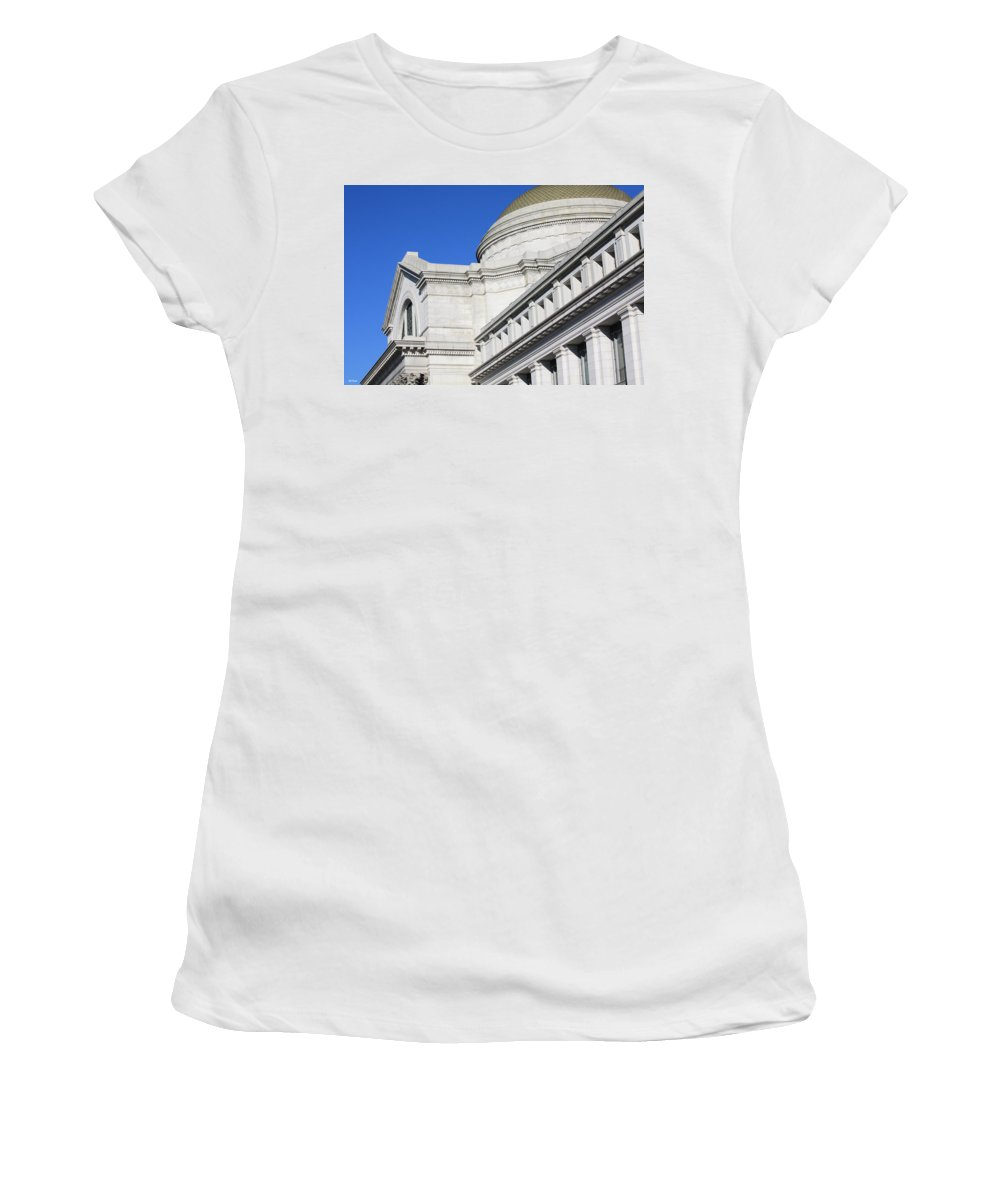 Museum Women's T-Shirt (Athletic Fit) featuring the photograph Museum Of Natural History by Ronald Reid