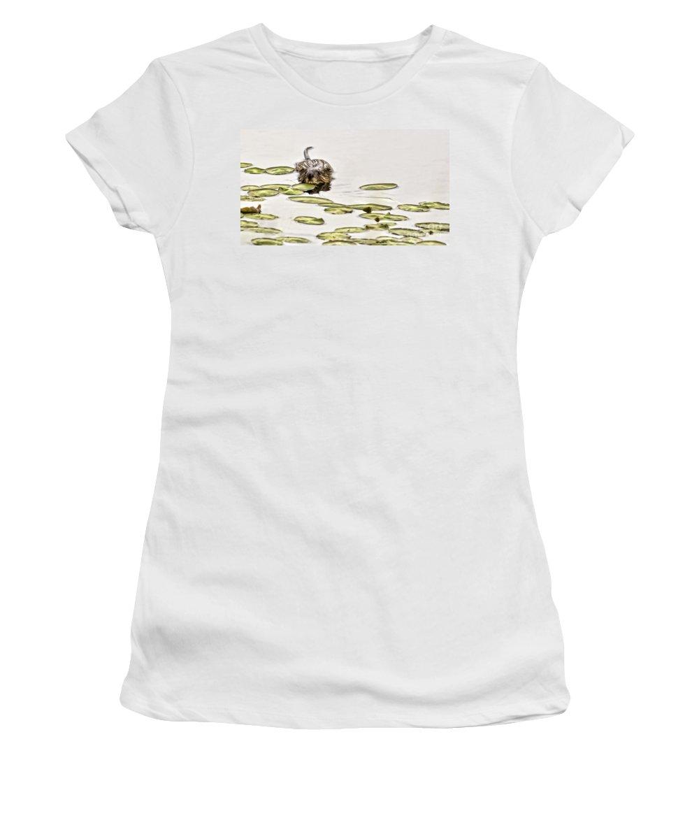 Killian Women's T-Shirt featuring the photograph Muskrat Love by Jan Killian
