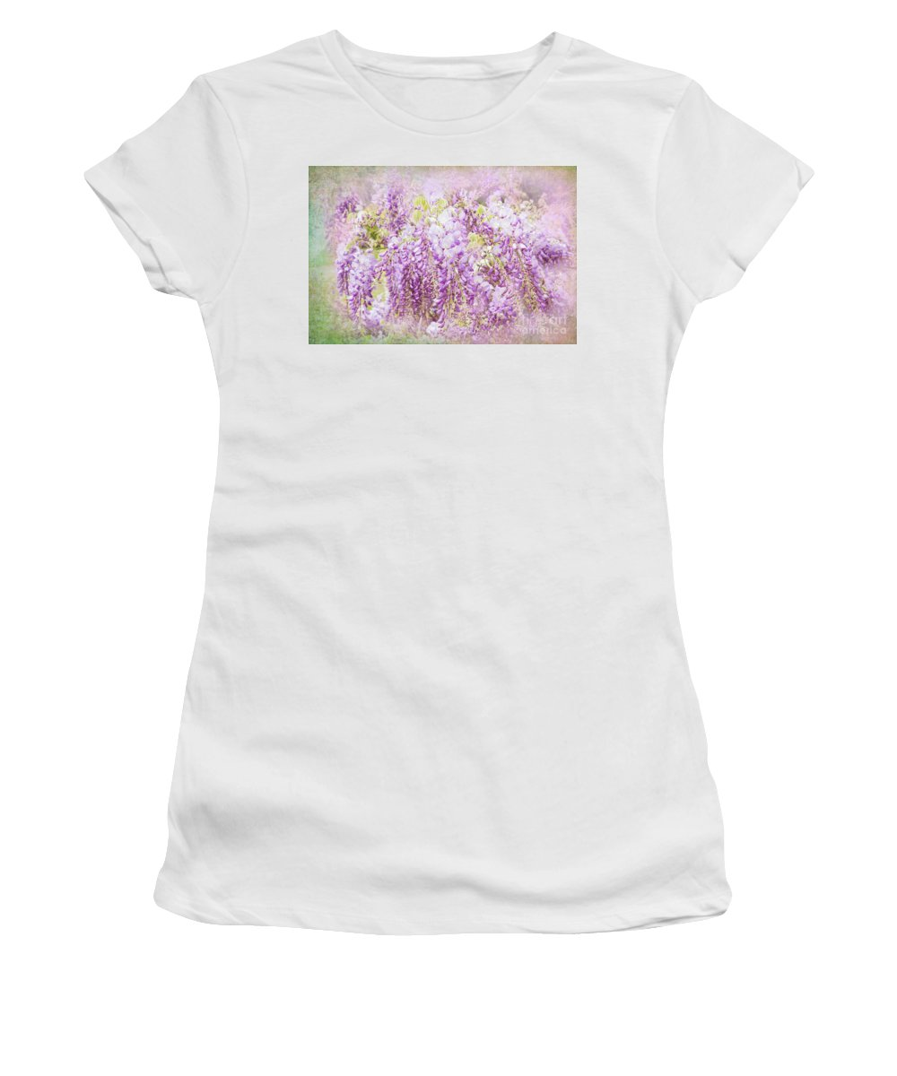 Wisteria Women's T-Shirt featuring the photograph My Romance by Marilyn Cornwell