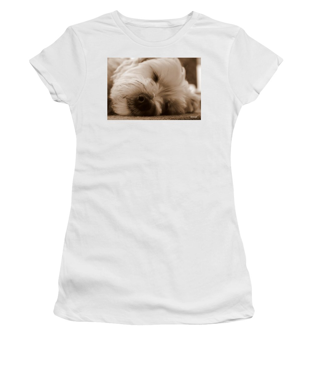 Nap Time Women's T-Shirt (Athletic Fit) featuring the photograph Nap Time by Ed Smith