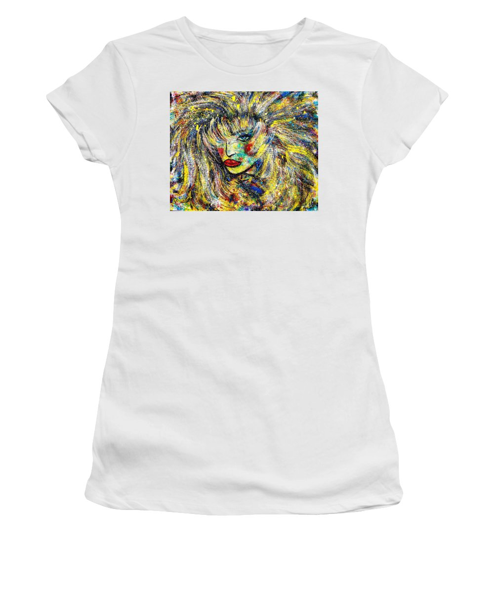Portrait Women's T-Shirt (Athletic Fit) featuring the painting Natalya by Natalie Holland