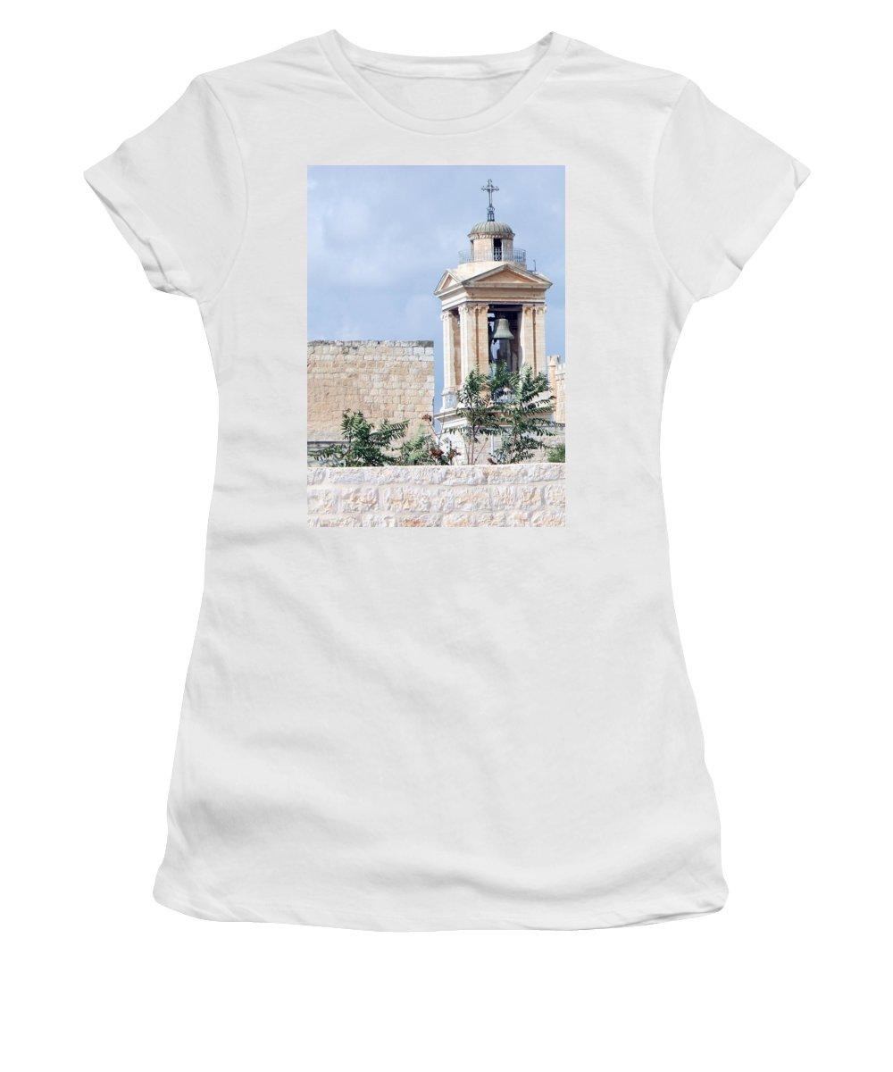 Bethlehem Women's T-Shirt featuring the photograph Nativity Church Bells by Munir Alawi