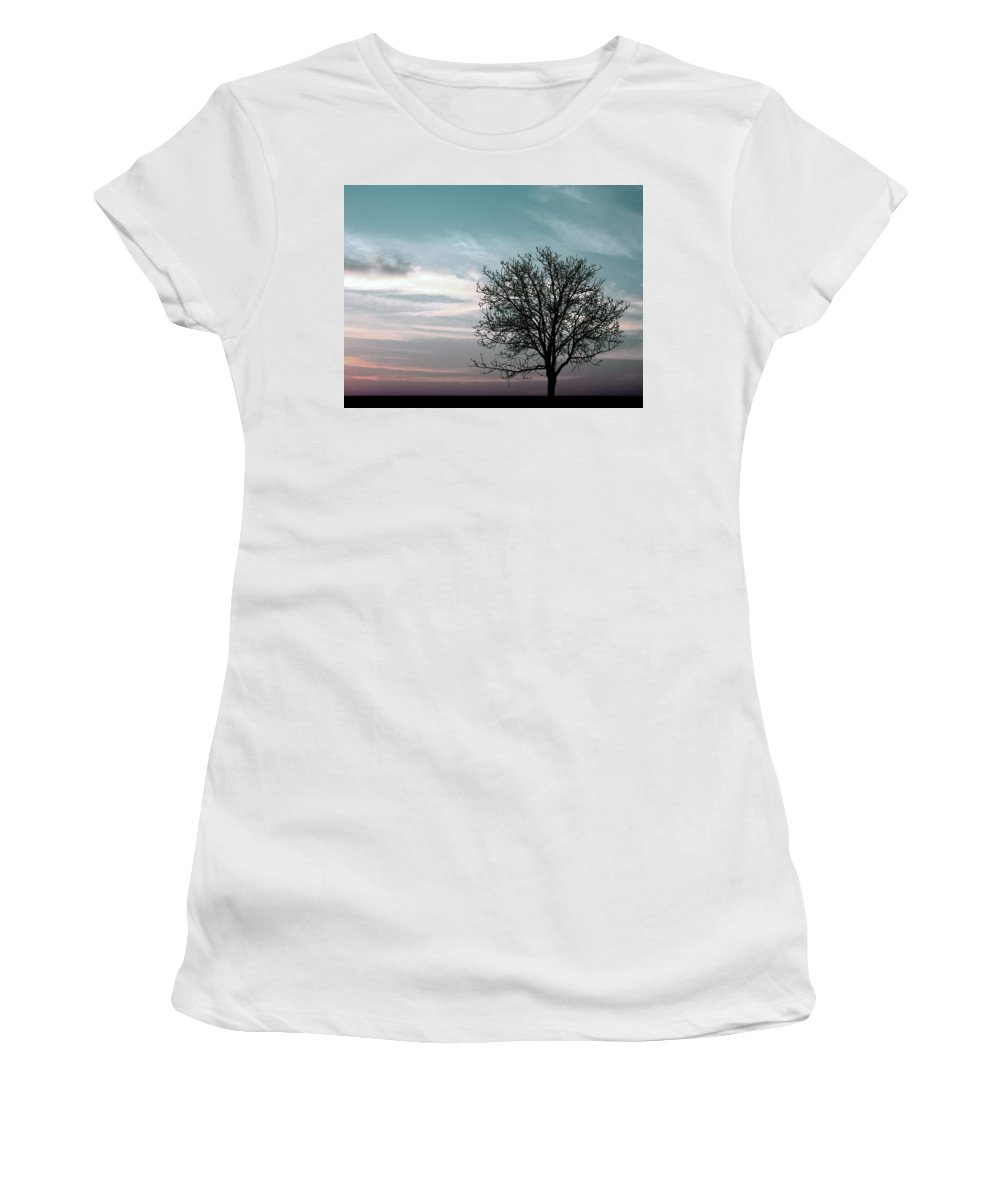 Nature Women's T-Shirt (Athletic Fit) featuring the photograph Nature - Early Sunrise by Munir Alawi