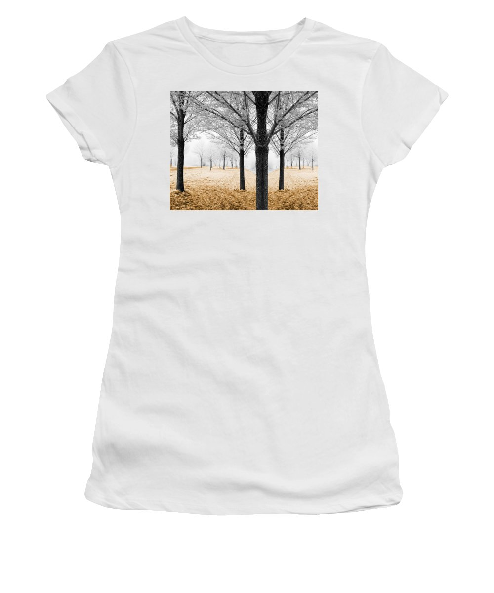 Season Women's T-Shirt featuring the photograph Nature - Mixed Season by Munir Alawi