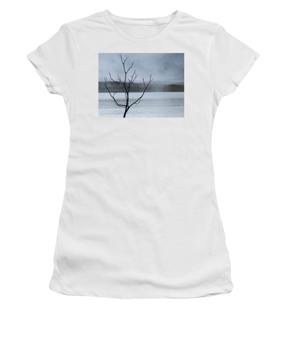 Nature Women's T-Shirt (Athletic Fit) featuring the photograph Nature - The Naked Tree by Munir Alawi