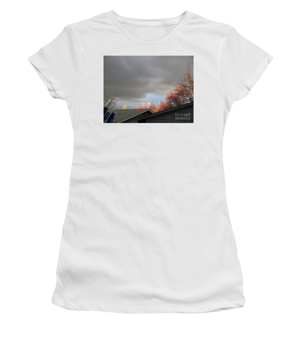 Nature Women's T-Shirt (Athletic Fit) featuring the photograph Nature Shining Her Light by Marie Neder