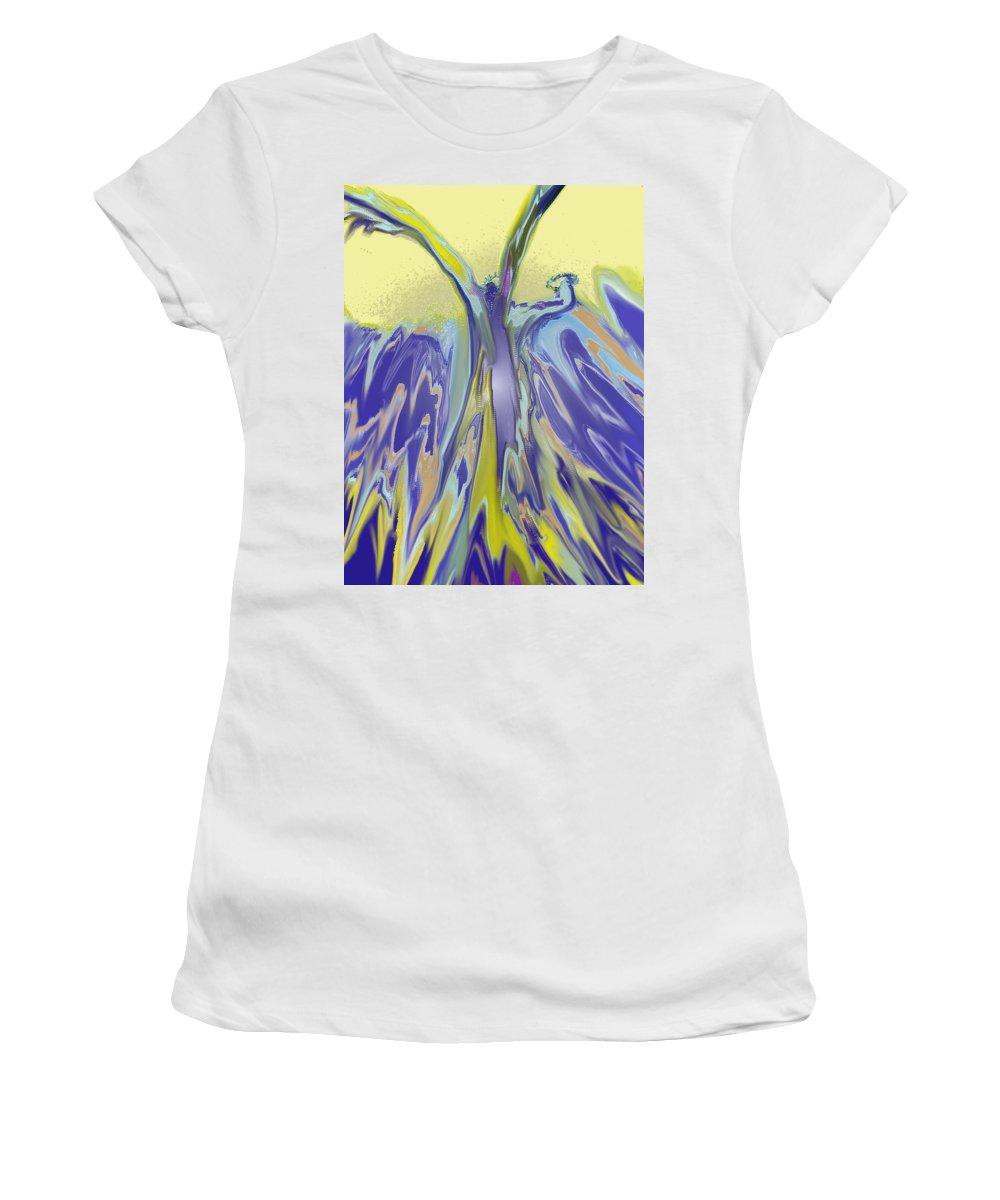 Nautilus Women's T-Shirt (Athletic Fit) featuring the digital art Nautilus by Ian MacDonald