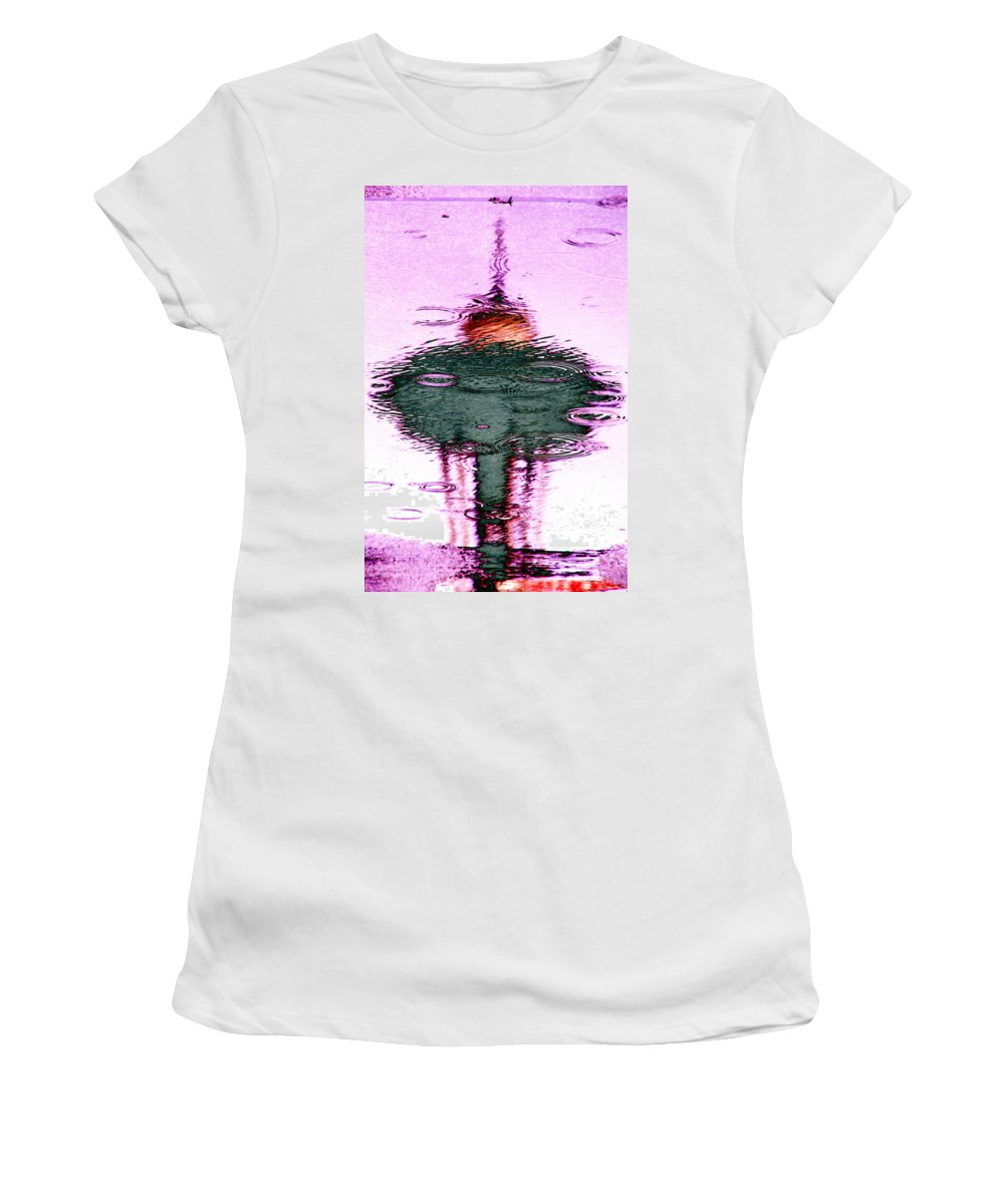 Seattle Women's T-Shirt featuring the photograph Needle In A Raindrop Stack 2 by Tim Allen